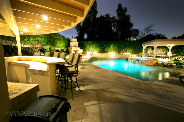 Poolside Bar and Yard View